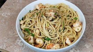 Scampi Shrimp with White wine n butter pasta-How to make Shrimp Scampi