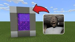 How To Make a Portal to the GRANNY HOUSE Dimension in MCPE (Minecraft PE)