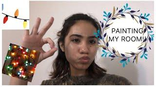 VLOGMAS DAY 3|| PAINTING MY ROOM!