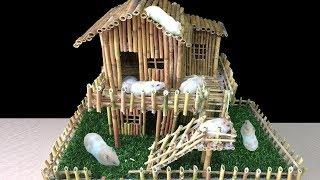 How To Make Stick House For Hamster - Diy Hamster House - Mr Decor