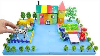 PJ Masks Toys and How To Make Rainbow House with Kinetic Sand, Tree Model