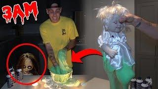 GIANT FLUFFY SLIME COMES ALIVE AT 3AM!! *GONE WRONG* (IT BITES ME)