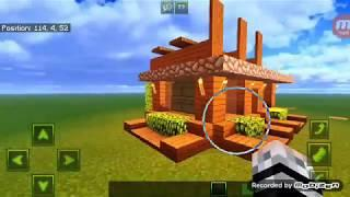 How to make a modern easy survival house in minecraft PE #tutorial