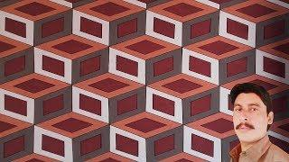 WALL PAINTING 3D CUBE WALL DESIGN [NEW DESIGN 2019] WITH EASY STEPS