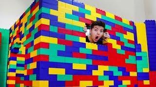 I Built A House Using Mega Lego Blocks!