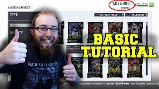 Basic Sniping Tutorial! How to Make Millions of Coins on the Auction House! Madden 19 Ultimate Team