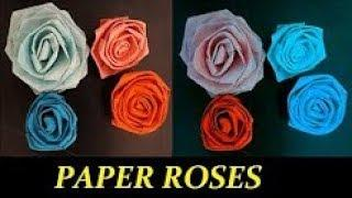 how to make paper roses for decoration easy step by step