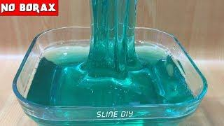Water Slime No Borax ???? How To Make Clear Slime No Borax (#clearslime)