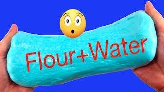 How To Make Slime With Flour and Water!! DIY Slime Without Glue