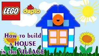 Lego House in the village. How to make with Lego Bricks Stop motion animation HD