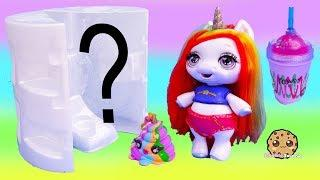 Giant Surprise Baby Unicorn Sister ! Feed Glitter + Make Slime - Blind Bags