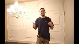 AMAZING Accent Wall Installation!!! Finish Carpentry