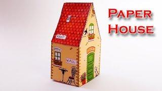 beautiful paper house | How to Make Paper Beautiful and colourful house ...........