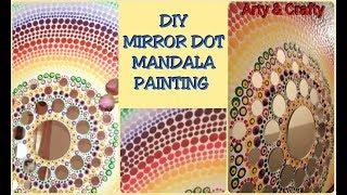 How to paint unique Dot Mandala#Mirror Mandala Painting on Canvas#ROOM DECOR#ACRYLIC PAINTING IDEA