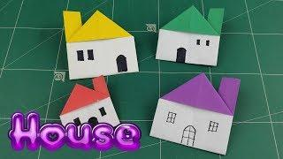 Origami Easy Paper Home | How to Make Paper House Tutorial | DIY Paper Without Glue Gift Craft Idea