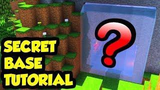 Minecraft SECRET BASE Survival House Tutorial (How to Build)