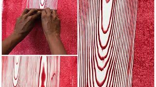 Wall planks wood shade painting DIY Asian paints 2019.simply application process .