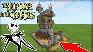"Minecraft Tutorial: How To Make Jack Skellingtons House ""The Nightmare Before Christmas"""