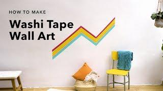 How to Decorate Your Walls with Washi Tape ????