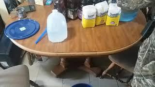 Was making wine but dropped my phone lost the video. Sorry
