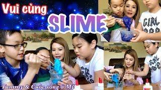 Đồ chơi Slime, Trẻ em ở Mỹ chơi thử Slime, Cuộc sống ở Mỹ - How to make Slime