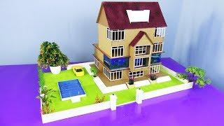 Making a Beautiful Villa House Project from Cardboard  With Swimming Pool - Dream House - Model 12