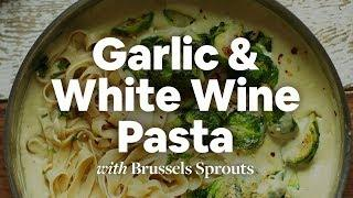 Garlic & White Wine Pasta with Brussels Sprouts | Minimalist Baker