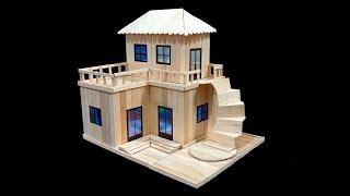 How to Make a Wonderful House at Home Using  Popsicle Sticks