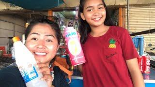 First time make slime two sisters how to make easy for kids