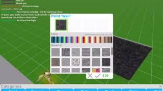 How to paint your walls on bloxburg on iPad