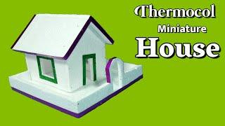 How To Make Thermocol House | DIY Art And Craft | Thermocol Craft For School Project