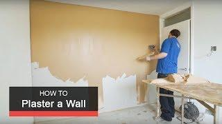 How to plaster a wall with Wickes