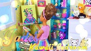 DIY - How to Make: Jade's Bedroom | Custom Paint Splatter | Kawaii Style | Doll Paintings & More