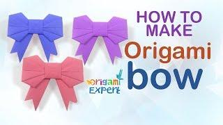 How to Make Origami Bow Easy for Kids | Easy Paper Bow Instruction
