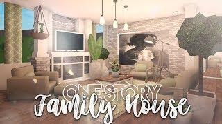 Roblox | Bloxburg: One Story Family House | House Build