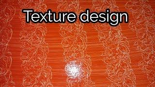 Asian Paint Texture Design with Plastic Wrap