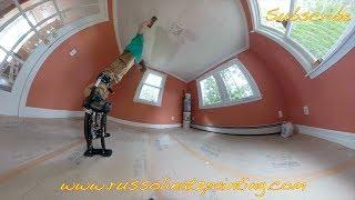 DIY Dry Scrape Popcorn Ceiling & Skim Coat -  Drywall Repair (Part 8)