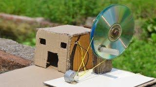 How to make Electric Generator Cardboard house project