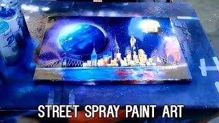 Crazy Street Painting Art & Disney Spray paint