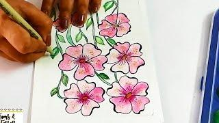 DIY : Beautiful Floral Painting Ideas for Beginners | Painting Tips & Tricks