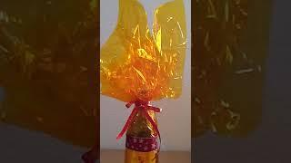 15 January 2019 #165 DIY PROJECT  HOW TO MAKE A GIFT WRAPPING FOR A  BOTTLE OF WINE
