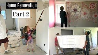 Home Renovation Part 2 : Building, Painting, Installing Cabinets