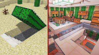 Minecraft: How to Build A Modern Secret Base Tutorial (Hidden House)