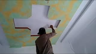 how to paint design on ceiling.2019?Pakistan design