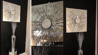 Dollar Tree DIY || ???? Glam Wall Art  || Black and White Living Room Decor Ideas ????