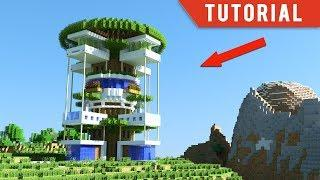 Minecraft: How To Build a MODERN TREE HOUSE/ Modern TreeHouse Tutorial [ How to make ] 2018