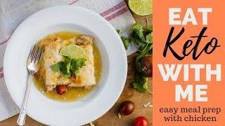 Full Day of Eating Keto | KETO MEAL PREP | EASY KETO RECIPES using chicken