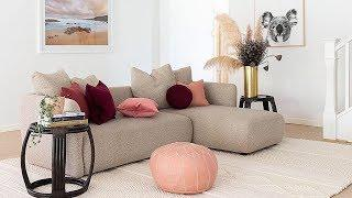INTERIOR DESIGN / Beige and White  Living room Design Decor Ideas / Living Room 2019 / Home Decor