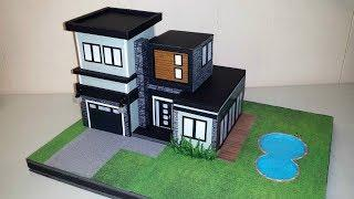 How to make a Miniature Modern House - NOT a Kit