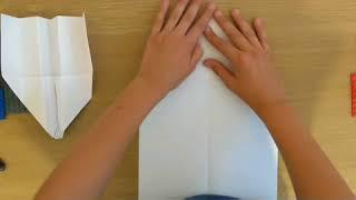 How to make a Easy Paper Airplane that flies far (easy